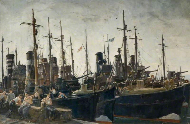 minesweepers off duty, 1940 de Charles Ernest Cundall | Reproduction Peinture | WahooArt.com