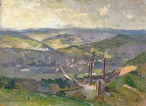 Charles Ernest Cundall - industrielle paysage
