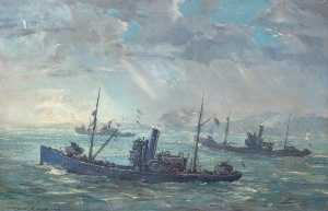 Charles Ernest Cundall - Minesweepers