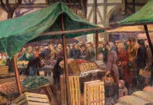 William Herbert Allen - marché de rue , Walsall