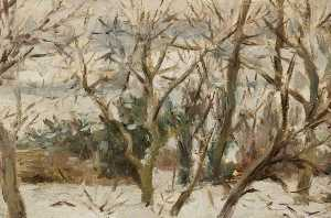 Elinor Bellingham Smith - Verger Paysage de neige , Felsted