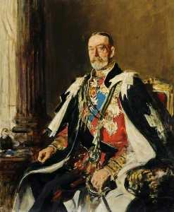 Frederick William Elwell - george v ( 1865–1936 ) ( première esquisse )