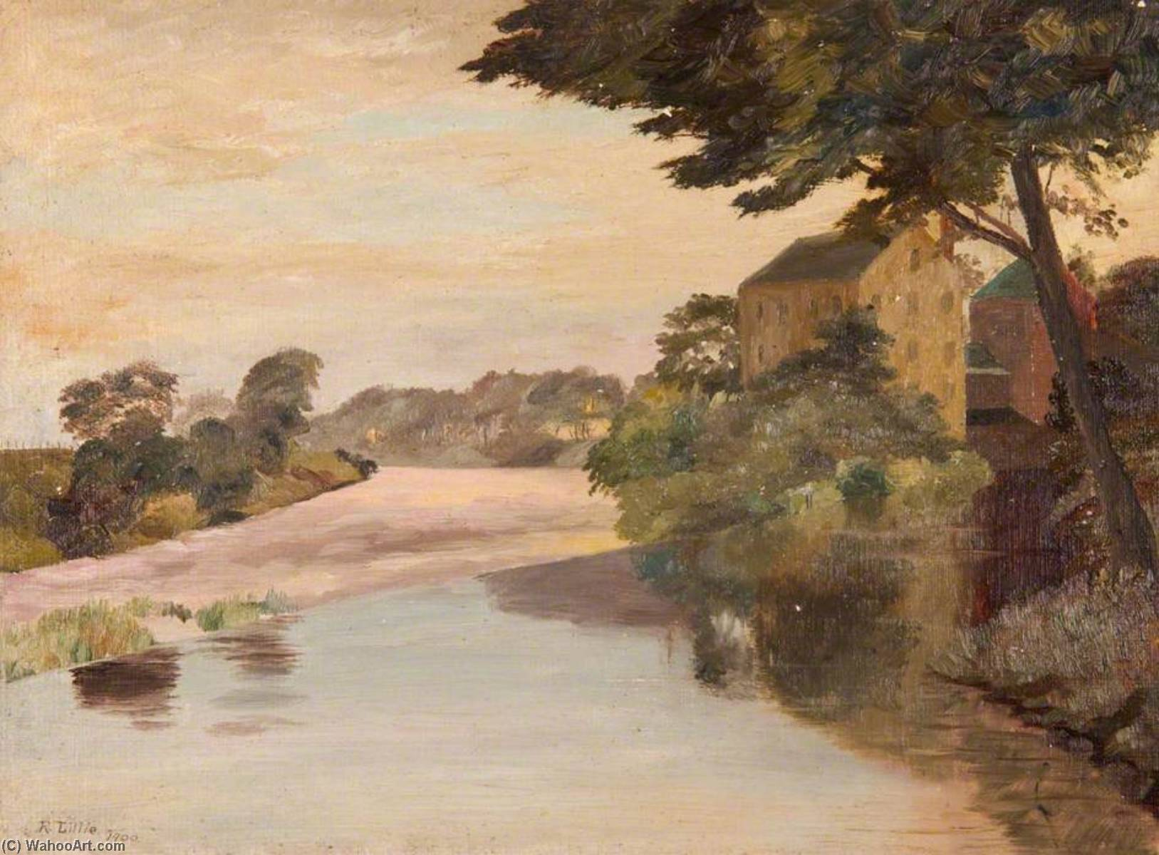 ancien moulin , Carmyle, 1900 de Robert Lillie | Reproduction Peinture | WahooArt.com