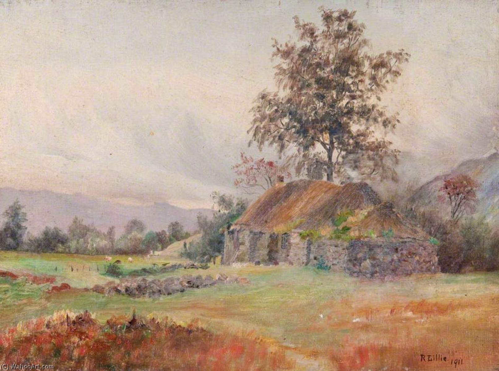 Gîte glen strae , Dalmally, 1911 de Robert Lillie | Reproductions D'art Sur Toile | WahooArt.com