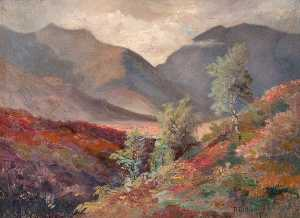 Robert Lillie - Regarder across glen orchy , Dalmally