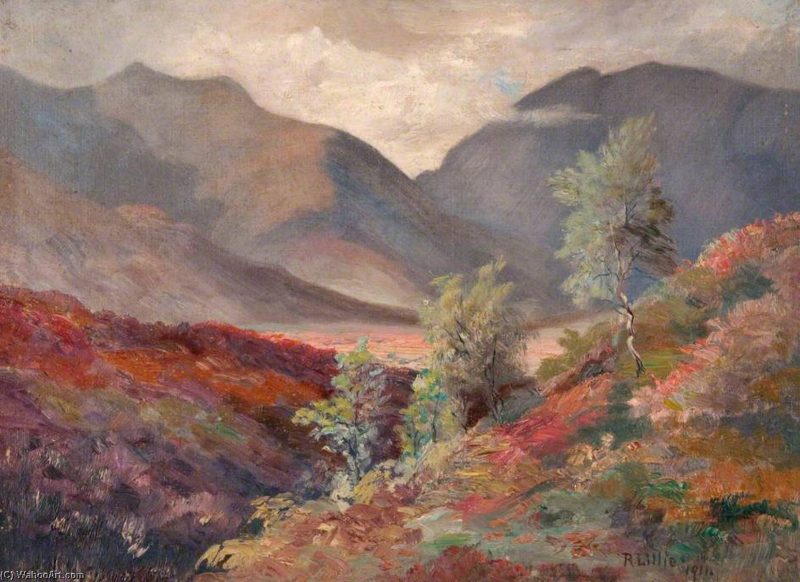 Regarder across glen orchy , Dalmally, 1911 de Robert Lillie | Reproduction Peinture | WahooArt.com