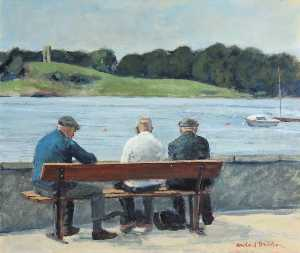 Rowland Davidson - amical causerie , Portaferry