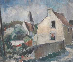 Alan Francis Clutton Brock - village scène en france