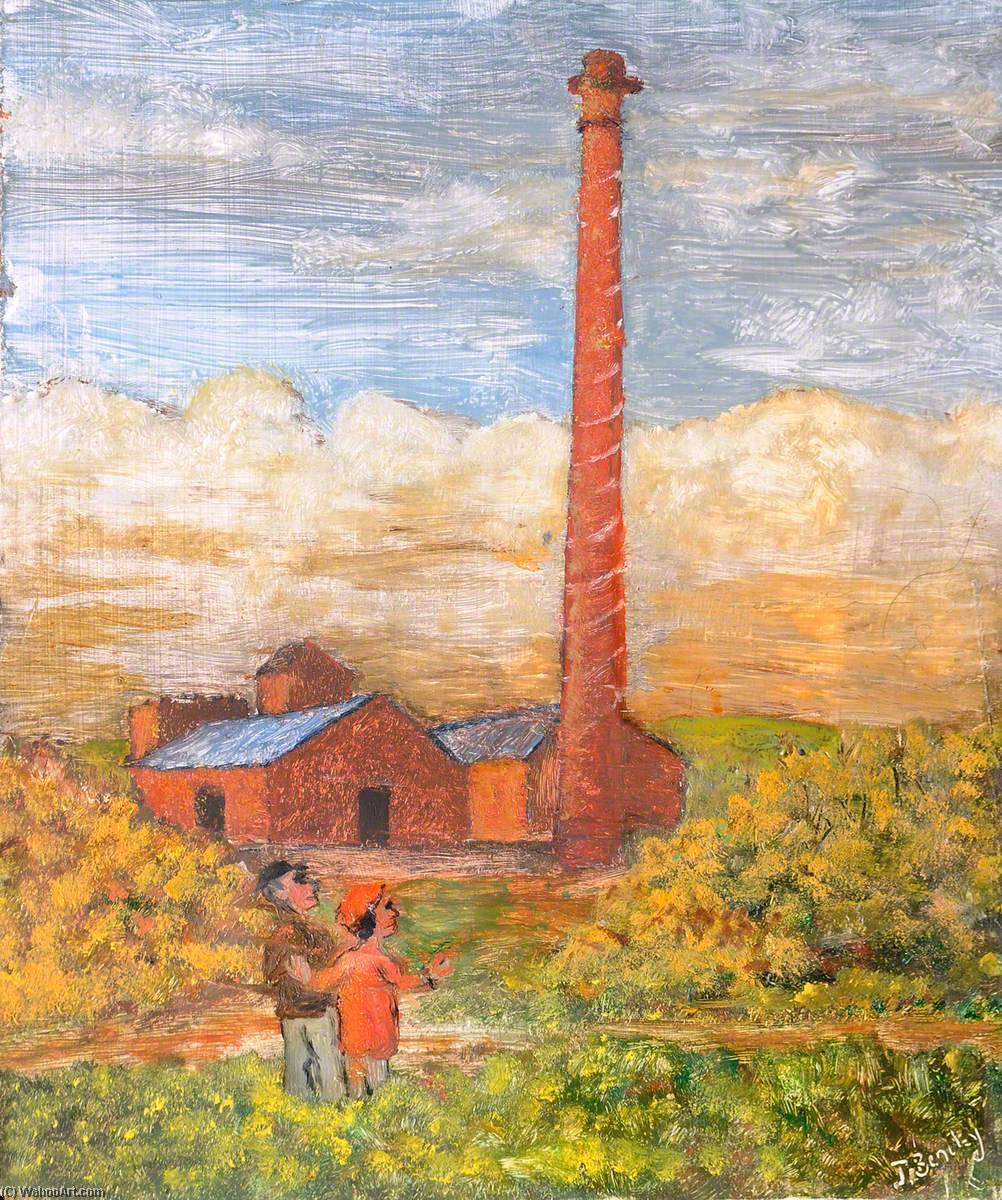le derelict Knowle Colline Brickworks , Buckley , Pré 1939 de James Bentley | Copie Tableau | WahooArt.com