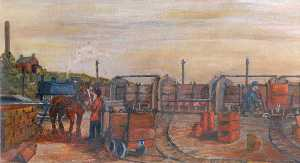 James Bentley - Knowle Colline Échange Sidings , Buckley , c . 1925