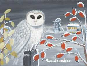Paul Schofield - harfang des neiges II