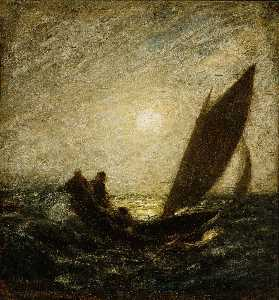 Albert Pinkham Ryder - avec inclinaison Mât et dipping Proue