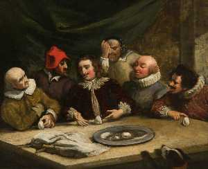 Thomas Robson - Colomb et le Oeuf ( copie d'après william hogarth )