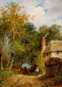 John Moore Of Ipswich - Voie et cottage , Wherstead Route , Ipswich