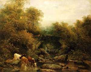 William Widgery - Fingle Pont , Devon