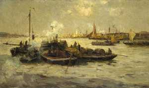 Edmund Aubrey Hunt - Limehouse Aboutir
