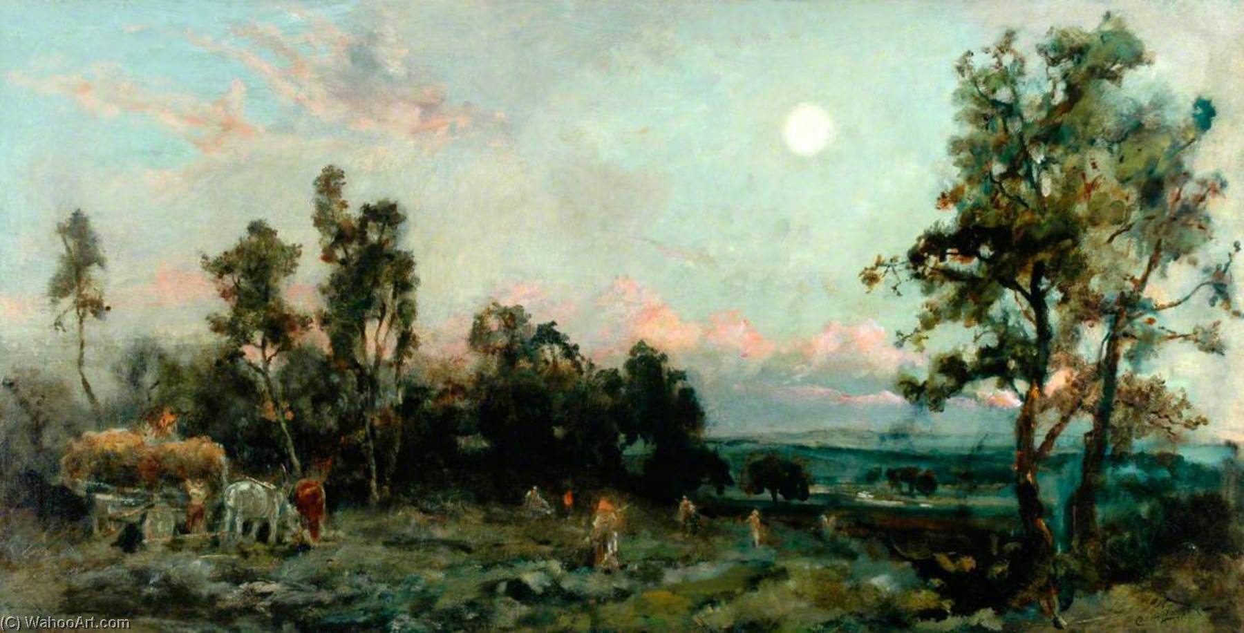 Achat Reproductions De Qualité Musée | Le Harvest Moon, 1870 de Cecil Gordon Lawson (1851-1882, United Kingdom) | WahooArt.com