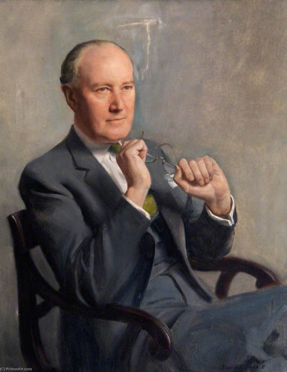 macdonald critchley ( 1900–1997 ) , CBE , MARYLAND , FRCP, huile sur toile de Norman Hepple