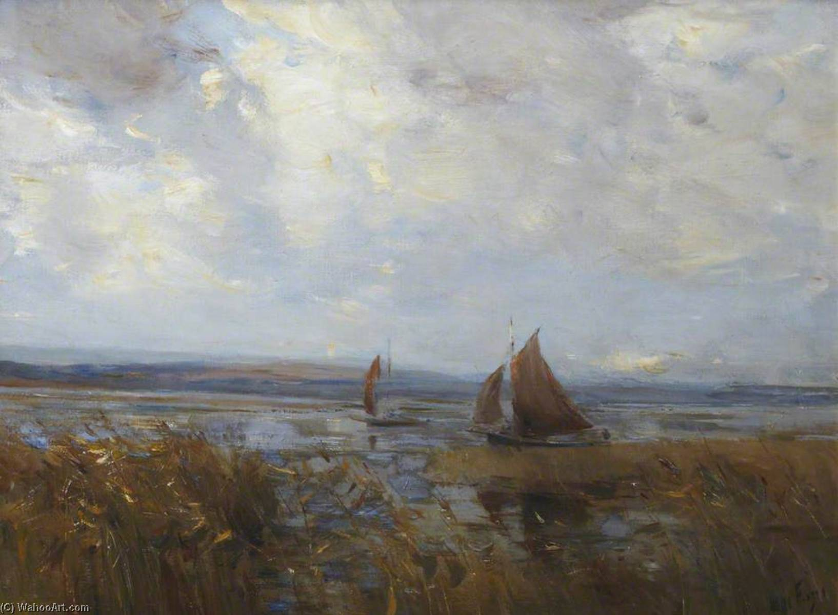 matinale newburgh sur tay  de William Miller Frazer | Reproductions D'art William Miller Frazer | WahooArt.com