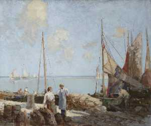 William Lee Hankey - chargement Moules  à Honfleur