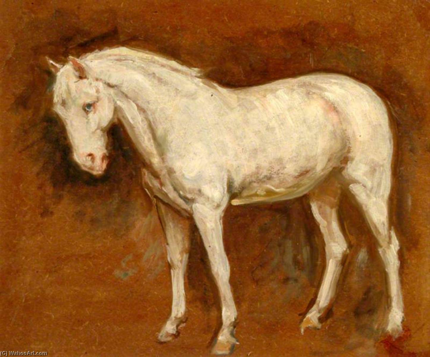 le gris Cheval ( recto ), Huile de Percy Harland Fisher