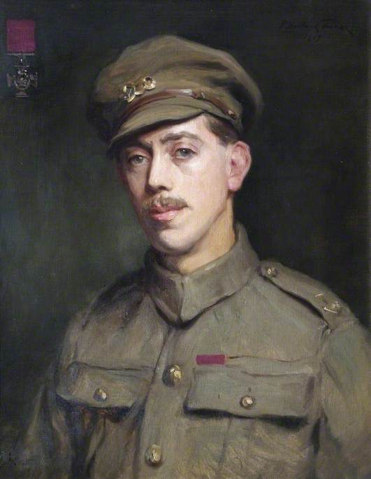 trooper frederick william owen potts ( 1893–1943 ) , VC, huile sur toile de Percy Harland Fisher
