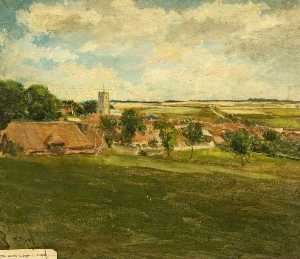 Kate Allen Tryon - les downs Village de Aldbourne , Wiltshire