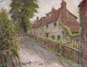 Henry Childe Pocock - old cottages , Holcombe Colline , mill hill