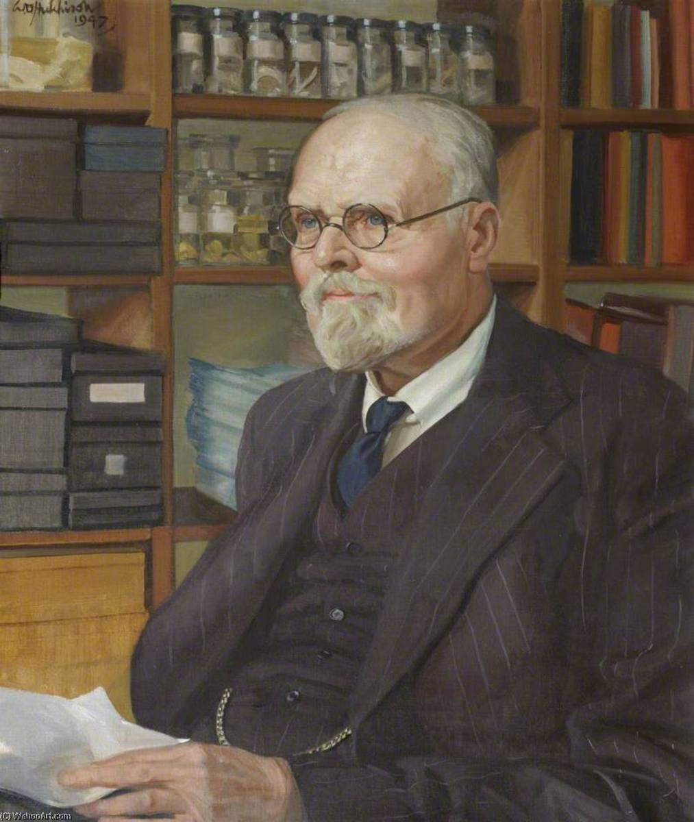 francis hugh adam marshall ( 1878–1949 ) , CBE , scd , FRS , Reader Agrarien Physiologie ( 1919–1949 ) , Ensemble ( 1919–1949 ), 1947 de William Oliphant Hutchison | Copie Tableau | WahooArt.com