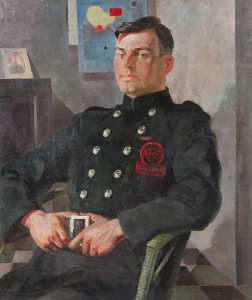 Hugh Adam Crawford - James Baie dans un Une . F . S . Uniforme
