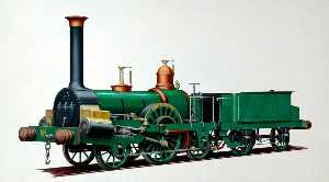 Henry Maurice Whitcombe - Grandiose junction railway 2–2–2 Locomotive 'Tamerlane'
