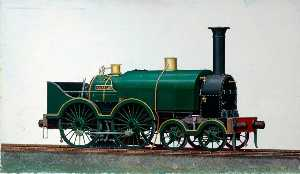 Henry Maurice Whitcombe - great western Chemin de fer 4–4–0 saddletank locomotive 'Corsair'