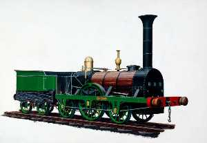 Henry Maurice Whitcombe - 2–2–2 Locomotive 'Patentee' , Robert Stephenson's Brevet Locomotive