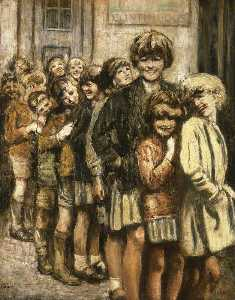 William Conor - Image maison queue ( Shankill Route , Belfast )