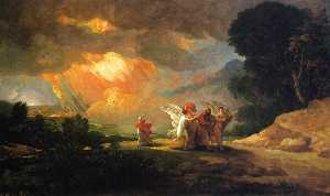Benjamin West - Fuyant Lot de Sodome