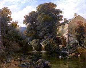 Edmund Thurnton Crawford - Moulin sur the aray , Argyllshire