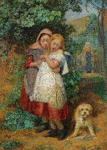 Edward Thompson Davis - fillettes EFFAREE  par de  une  chien