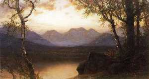 James David Smillie - lac dans le montagnes