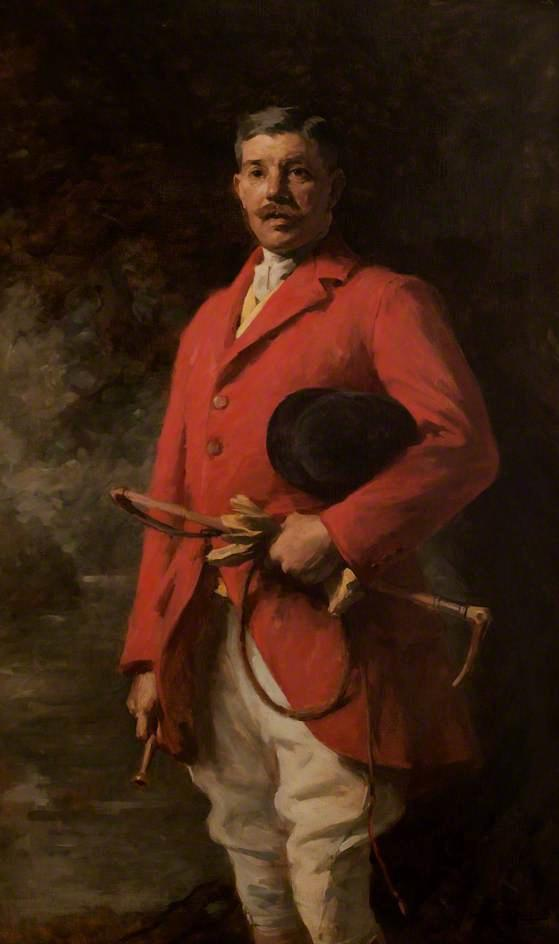hugh edwardes , 6th baron kensington, huile sur toile de Samuel Melton Fisher
