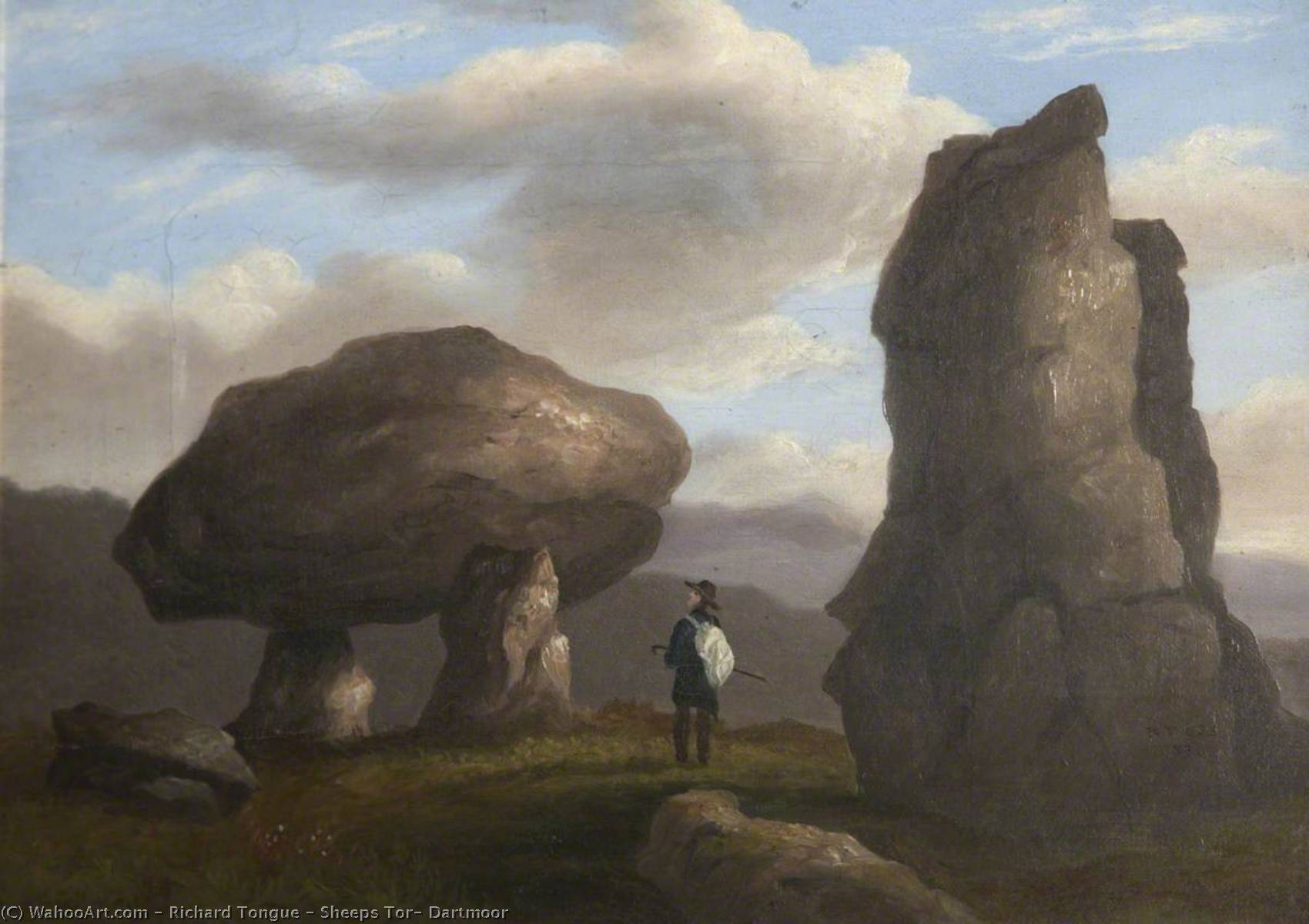 Des moutons Tor , Dartmoor, 1830 de Richard Tongue | WahooArt.com