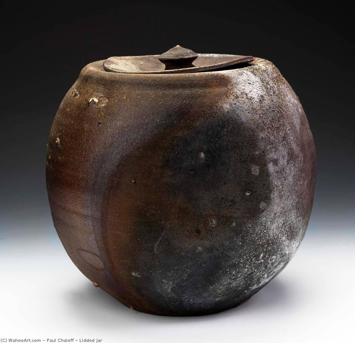 Lidded Pot, 1983 de Paul Chaleff | Reproductions De Qualité Musée Paul Chaleff | WahooArt.com