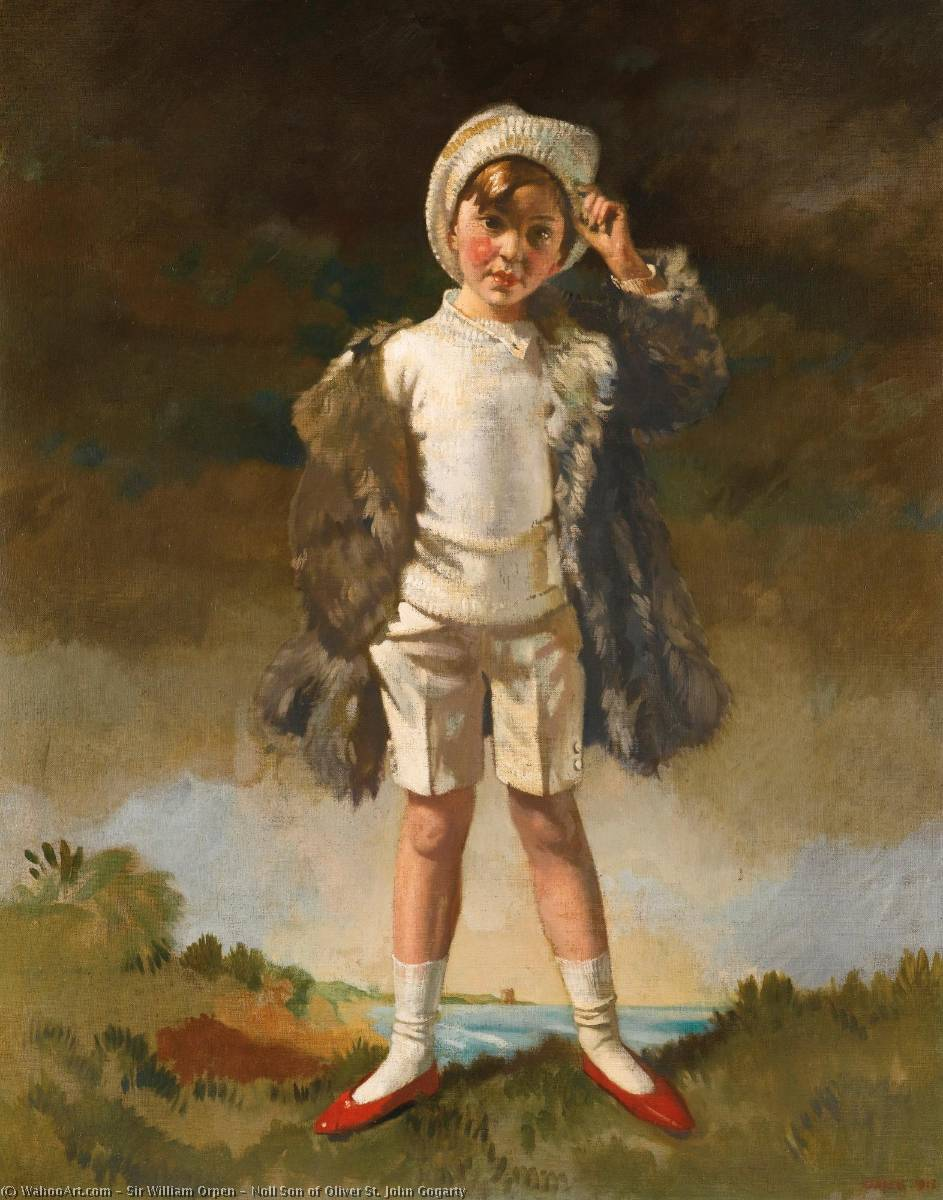 Noll Fils de Oliver St . john gogarty, huile sur toile de William Newenham Montague Orpen (1878-1931, Ireland)