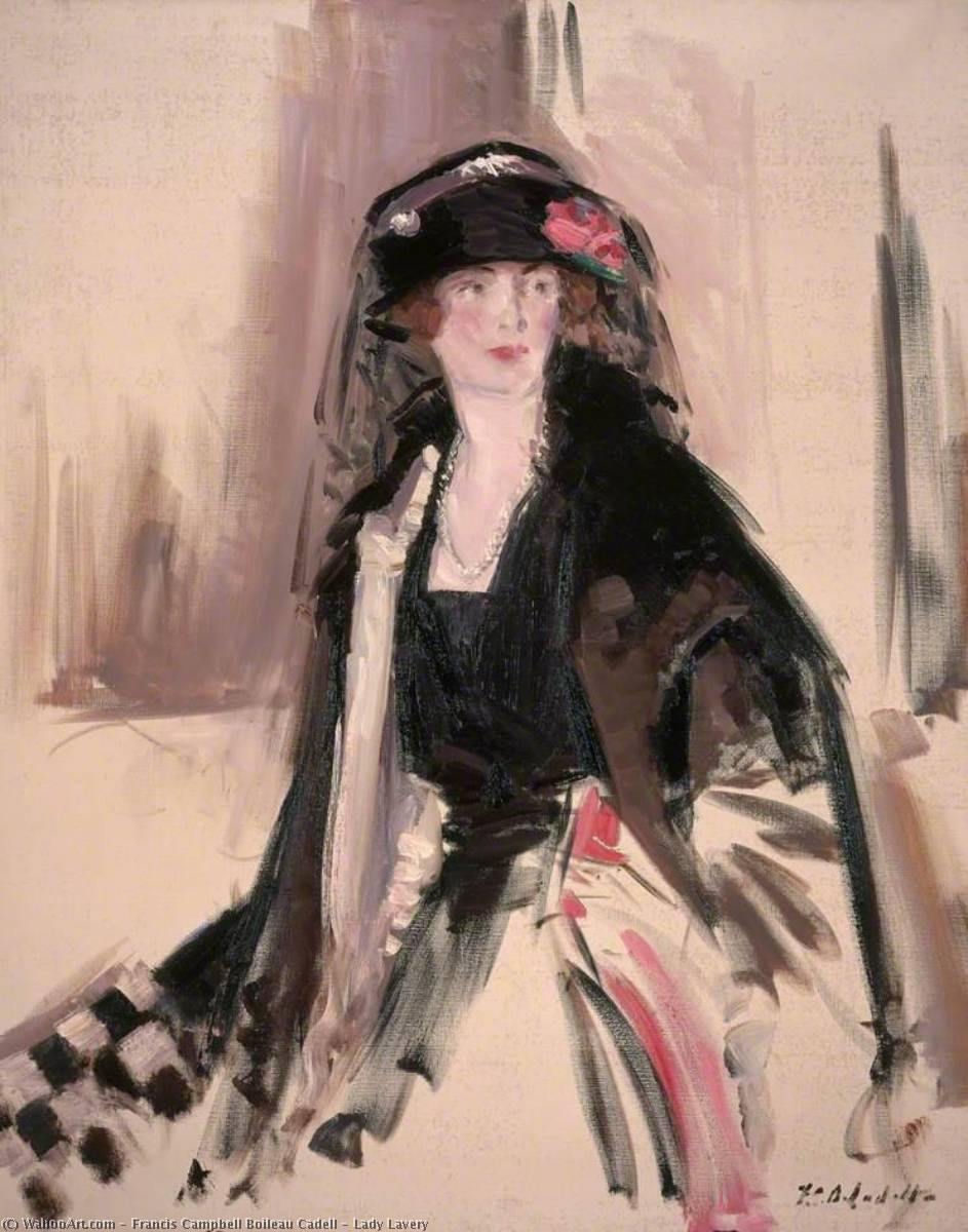 lady lavery de Francis Campbell Boileau Cadell (1883-1937) | WahooArt.com