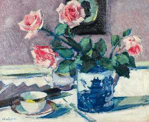 Francis Campbell Boileau Cadell - rose roses