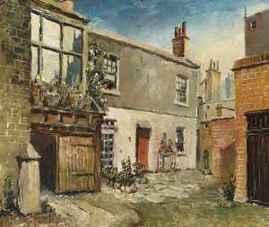 Herbert W Wright - old slaughter Maison , Notting Colline Porte