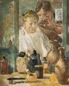 Norman Charles Blamey - campement coiffeur