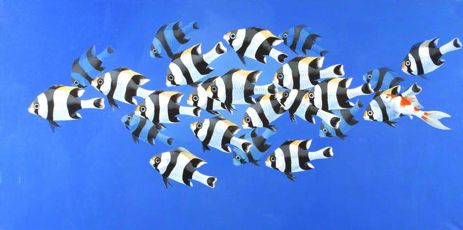 tropical poissons 2   de Celia Wilkinson | Reproductions D'art Sur Toile | WahooArt.com