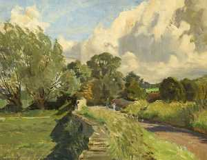 Norman Alexander Buchanan - the windrush au Asthall , Oxfordshire