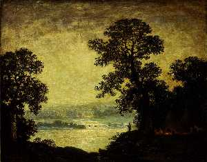 Ralph Albert Blakelock - clair de lune indien  camp