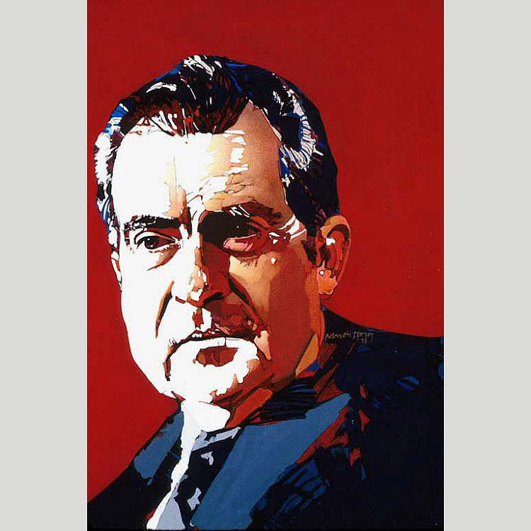 richard nixon, Huile de Ross Barron Storey